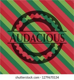 Audacious christmas style emblem.