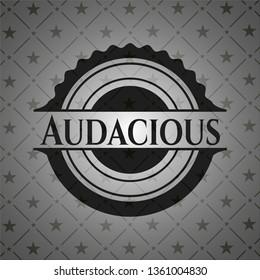 Audacious dark badge