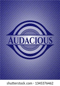 Audacious emblem with jean high quality background