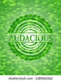 Audacious green mosaic emblem. Vector Illustration. Detailed.