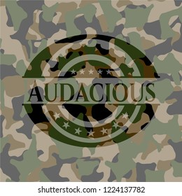 Audacious on camouflaged texture
