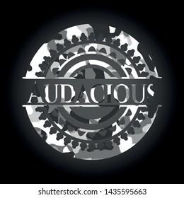Audacious on grey camo texture