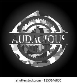 Audacious on grey camouflage pattern