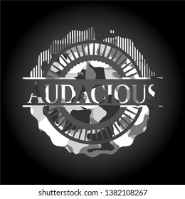 Audacious on grey camouflaged texture