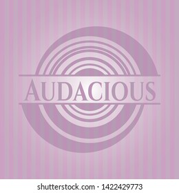 Audacious pink emblem. Vector Illustration. Detailed.