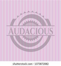 Audacious realistic pink emblem