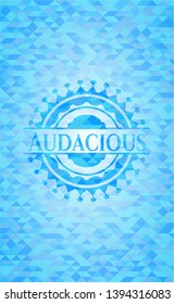 Audacious realistic sky blue emblem. Mosaic background