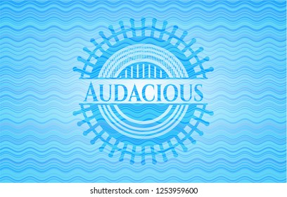Audacious water representation badge.