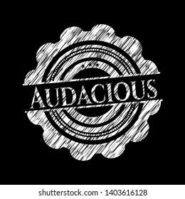 Audacious written on a chalkboard. Vector Illustration. Detailed.