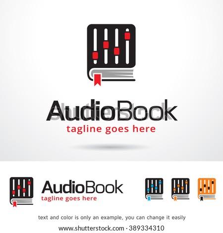 audio book logo template design vector stock vector royalty free