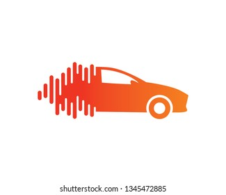 Audio Car Logo Template, Icon, Symbol - Vector