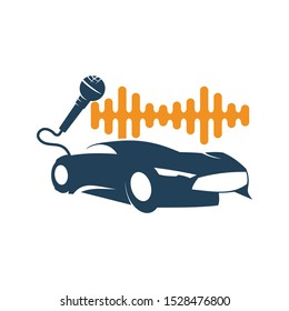 Audio Car Logo Template set Icon Symbol Vector
