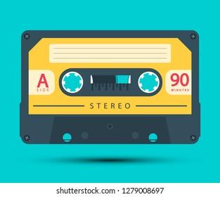 Audio Cassette Retro Analogue Vector Object Symbol
