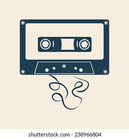 AUDIO CASSETTE, TAPE ILLUSTRATION VECTOR