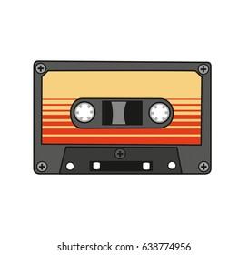 Audio cassette. Vector.