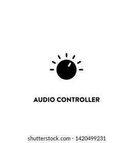 audio controller icon vector. audio controller sign on white background. audio controller icon for web and app