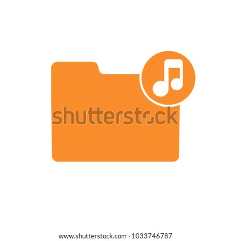 Audio Folder Media Music Note Player Stock Vector (Royalty