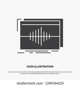 Audio, frequency, hertz, sequence, wave Icon. glyph vector gray symbol for UI and UX, website or mobile application