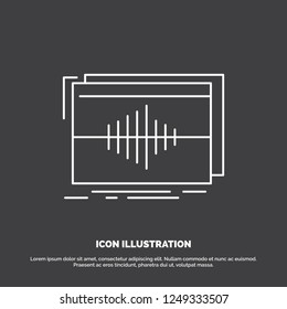 Audio, frequency, hertz, sequence, wave Icon. Line vector symbol for UI and UX, website or mobile application
