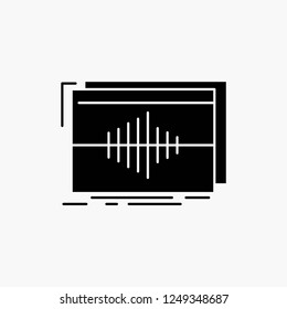 Audio, frequency, hertz, sequence, wave Glyph Icon. Vector isolated illustration