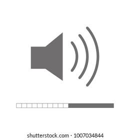 Audio icon. Speaker icon. Volume Icon black