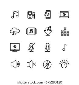 Audio Music Player, Volume, Icon Set
