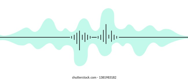 Audio record, voice message, sound, music. Abstract simple illustration. Web graphics, vector file.