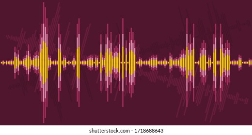 Audio sound wave graphics. Vector abstract art.