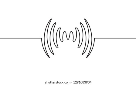 Audio sound wave music waveform. Pulse audio record design signal line.