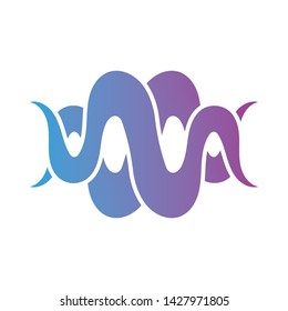 Audio sound wave vector illustration template design