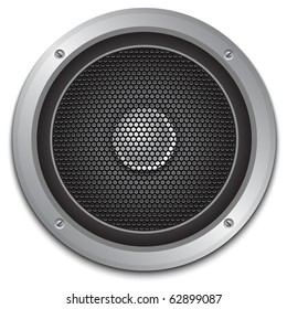 Audio speaker icon, vector