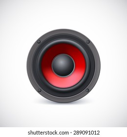 Audio speaker isolated on white background. Vector iilustration, eps10