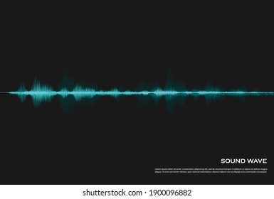 Audio spectrum background with glowing waves , sound and voice or heartbeat. Equalizer design for music, data, science and technology. Music backgrounds are perfect for presentation cover, banners or