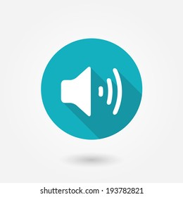 Audio symbol icon. Volume icon, vector illustration. Flat design style