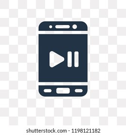 Audio vector icon isolated on transparent background, Audio transparency concept can be used web and mobile