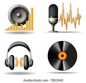 Audio vector icons