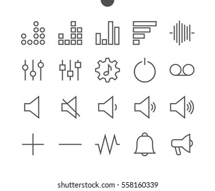Audio Video Pixel Perfect Well-crafted Vector Thin Line Icons 48x48 Ready for 24x24 Grid for Web Graphics and Apps with Editable Stroke. Simple Minimal Pictogram Part 2-5