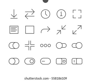 Audio Video Pixel Perfect Well-crafted Vector Thin Line Icons 48x48 Ready for 24x24 Grid for Web Graphics and Apps with Editable Stroke. Simple Minimal Pictogram Part 5-5