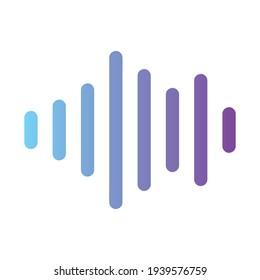 Audio Wave colorful gradient Icon. Logo Design