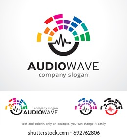 Audio Wave Logo Template Design Vector, Emblem, Design Concept, Creative Symbol, Icon