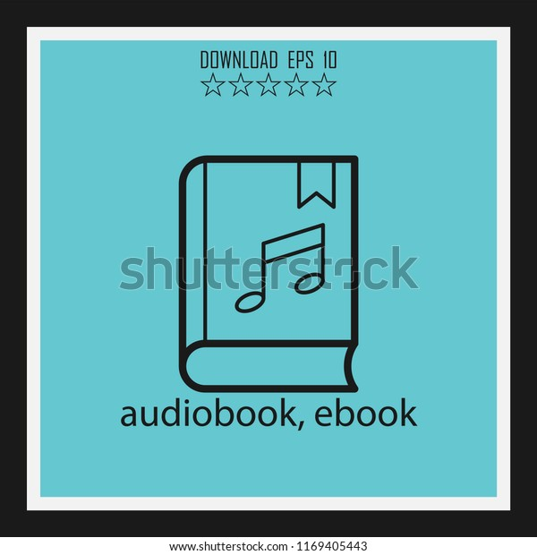 audiobook, ebook vector icon