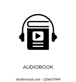 Audiobook icon. Audiobook symbol design from Education collection.