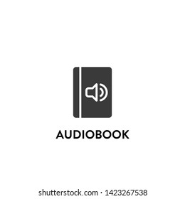 audiobook icon vector. audiobook vector graphic illustration