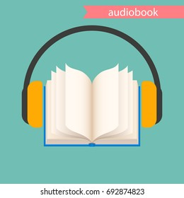 the audiobook icon. vector illustration.