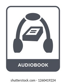 audiobook icon vector on white background, audiobook trendy filled icons from Education collection