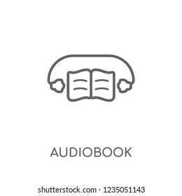 Audiobook linear icon. Modern outline Audiobook logo concept on white background from E-learning and education collection. Suitable for use on web apps, mobile apps and print media.