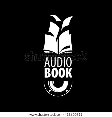 audiobook vector logo template stock vector royalty free 418600519