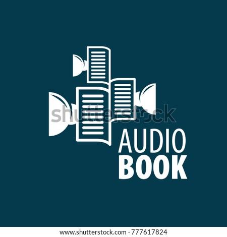 audiobook vector logo template stock vector royalty free 777617824