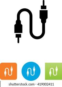 Audio-Visual cable symbol.