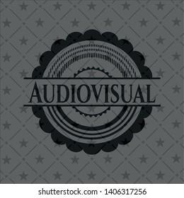 Audiovisual dark emblem. Vector Illustration. Detailed.